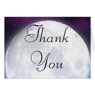 Cartões de agradecimentos para o tema do espaço