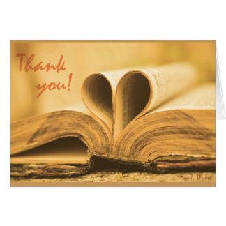 Cartões de agradecimentos para o vazio dos amantes