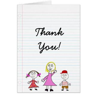 Cartões de agradecimentos para professores