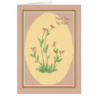 Cartões de agradecimentos para sua irmã mais velha
