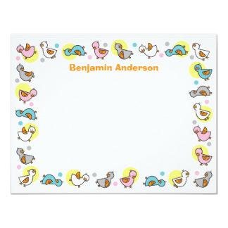 Cartões de agradecimentos parvos do chá de fraldas convite 10.79 x 13.97cm
