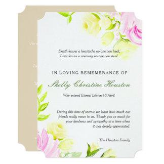 Cartões de agradecimentos Pastel da simpatia dos Convite 12.7 X 17.78cm