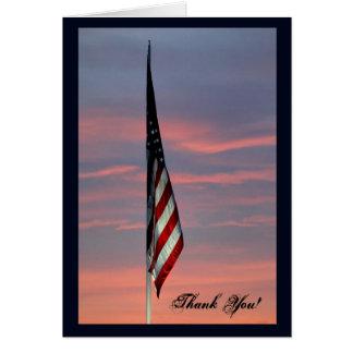 Cartões de agradecimentos patrióticos