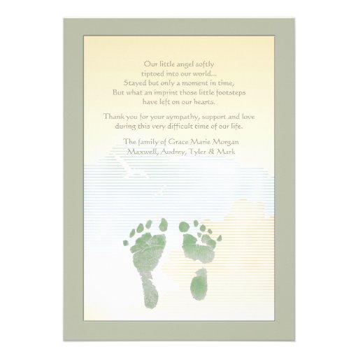 Cartões de agradecimentos pequenos do falecimento convite personalizado
