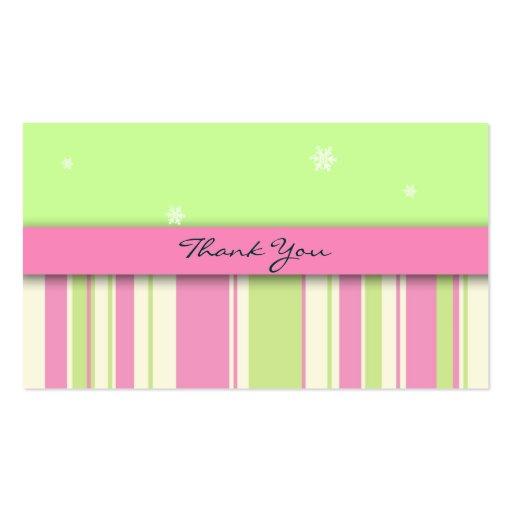 Cartões de agradecimentos pequenos: Estrelas & lis Modelo Cartao De Visita