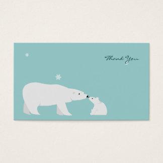 Cartões de agradecimentos pequenos: Urso polar