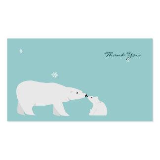 Cartões de agradecimentos pequenos: Urso polar Modelo Cartões De Visita