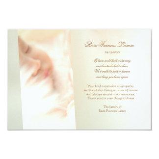 Cartões de agradecimentos perdidos do falecimento convite 8.89 x 12.7cm