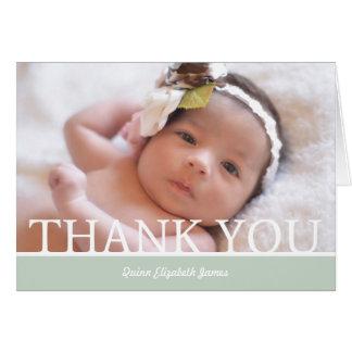 Cartões de agradecimentos personalizados do bebé -