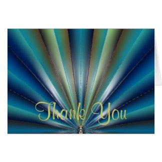 Cartões de agradecimentos plissados azul