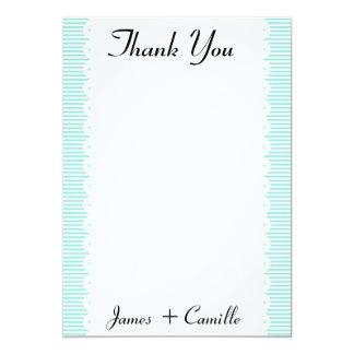 Cartões de agradecimentos populares do Scallop do Convite 12.7 X 17.78cm