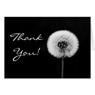 Cartões de agradecimentos preto e branco