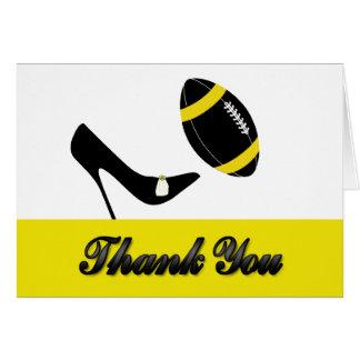 Cartões de agradecimentos pretos & amarelos do