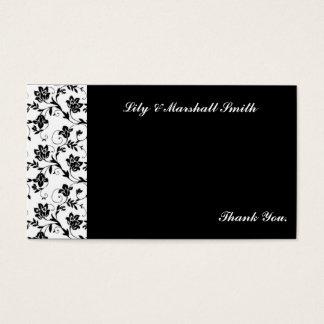 Cartões de agradecimentos pretos da elegância