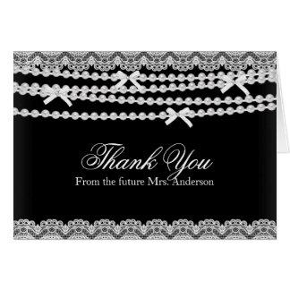Cartões de agradecimentos pretos do chá de panela