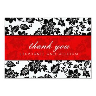 Cartões de agradecimentos pretos e vermelhos do convite 8.89 x 12.7cm