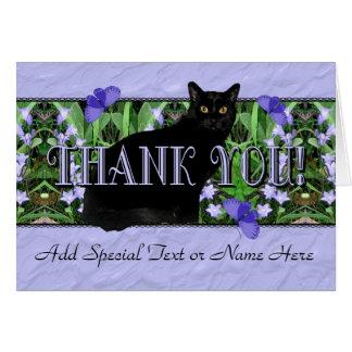Cartões de agradecimentos pretos esplêndidos do