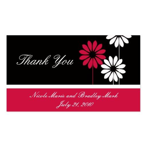 Cartões de agradecimentos pretos vermelhos do casa cartoes de visita