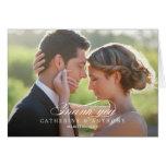 Cartões de agradecimentos puros do casamento da el