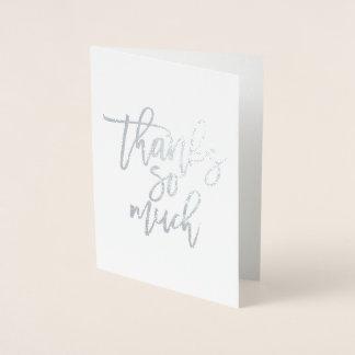Cartões de agradecimentos reais da folha dos