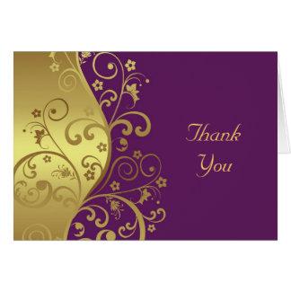 Cartões de agradecimentos--Redemoinhos do ouro &