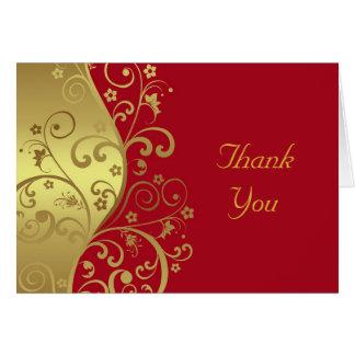 Cartões de agradecimentos--Redemoinhos do vermelho