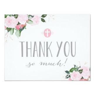 Cartões de agradecimentos religiosos das flores convite 10.79 x 13.97cm