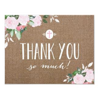 Cartões de agradecimentos religiosos de convite 10.79 x 13.97cm