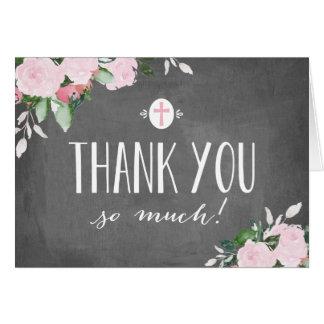 Cartões de agradecimentos religiosos do quadro
