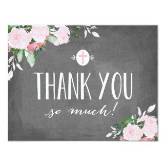 Cartões de agradecimentos religiosos do quadro convite 10.79 x 13.97cm