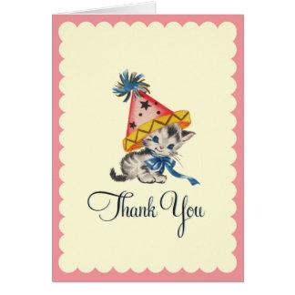 Cartões de agradecimentos retros da festa de