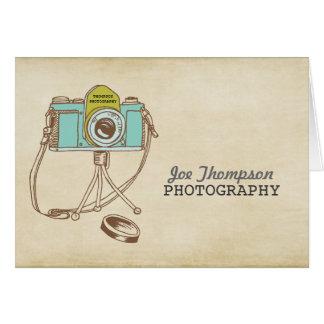 Cartões de agradecimentos retros do fotógrafo da c