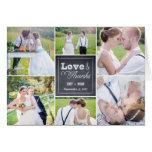 Cartões de agradecimentos riscados do casamento da