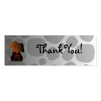Cartões de agradecimentos rochosos cartão de visita skinny