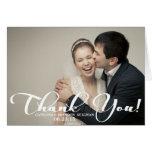 Cartões de agradecimentos românticos da foto do ca