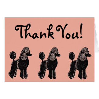 Cartões de agradecimentos rosados do pêssego das
