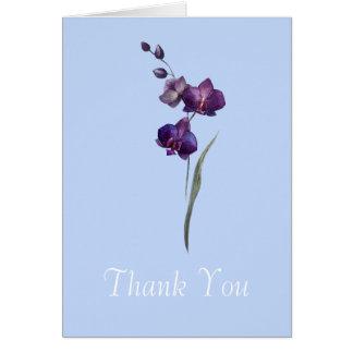 Cartões de agradecimentos roxos da flor