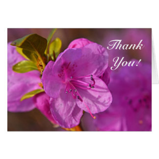Cartões de agradecimentos roxos da flor do