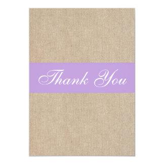 Cartões de agradecimentos roxos de serapilheira do convite 12.7 x 17.78cm