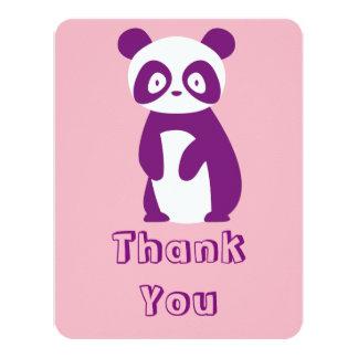 Cartões de agradecimentos roxos do chá de fraldas