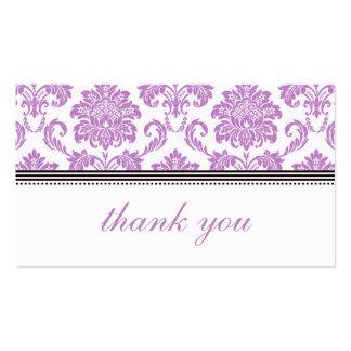 Cartões de agradecimentos roxos do damasco modelo cartões de visitas