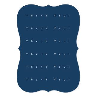 Cartões de agradecimentos roxos simples - bordas convite 12.7 x 17.78cm