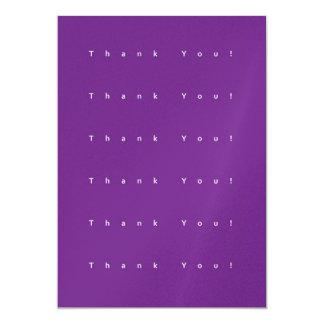 Cartões de agradecimentos roxos simples convite 12.7 x 17.78cm