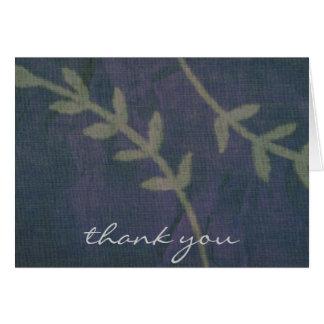Cartões de agradecimentos rústicos azuis