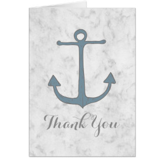 Cartões de agradecimentos rústicos azuis do