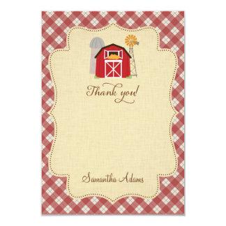 Cartões de agradecimentos rústicos da fazenda convite 8.89 x 12.7cm