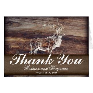 Cartões de agradecimentos rústicos do casamento