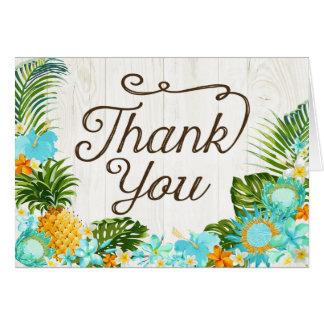 Cartões de agradecimentos rústicos havaianos da