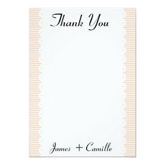Cartões de agradecimentos Salmon das riscas Convite 12.7 X 17.78cm