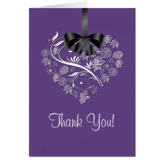 Cartões de agradecimentos sentido - ameixa